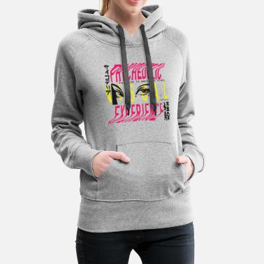 Decepticon Visual Experience woman gaze and bend letters - Women's Premium Hoodie