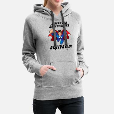 3 Year Old Funny Birthday Gift Present Superhero - Women's Premium Hoodie