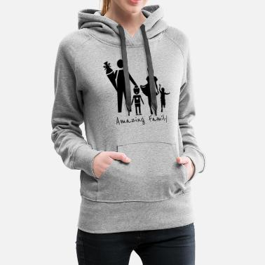 Amazing amazing family shirt design - Women's Premium Hoodie