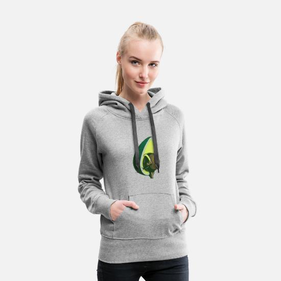 Avacado Hoodies & Sweatshirts - Avacado - Women's Premium Hoodie heather gray