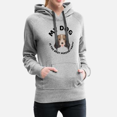 Dog Head The best person dog owner quote present - Women's Premium Hoodie