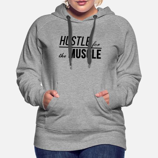 244ab838f Hustle For The Muscle. Fitness motivation slogan Women's Premium ...