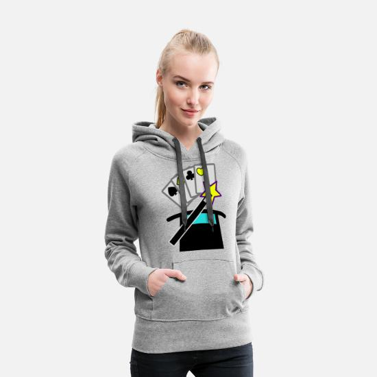Diamond Hoodies & Sweatshirts - cards - Women's Premium Hoodie heather gray