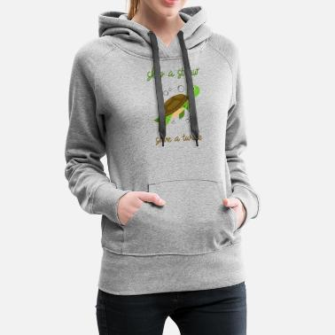 Save Skip a Straw Save A Turtle Stop Ocean Pollution - Women's Premium Hoodie