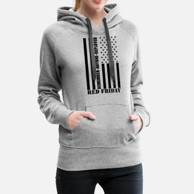 Stars And Stripes Red Friday Stars and Stripes - Women's Premium Hoodie