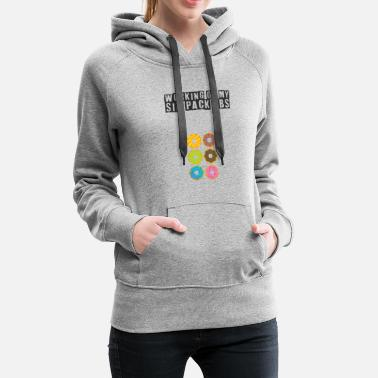 six pack work out design - Women's Premium Hoodie