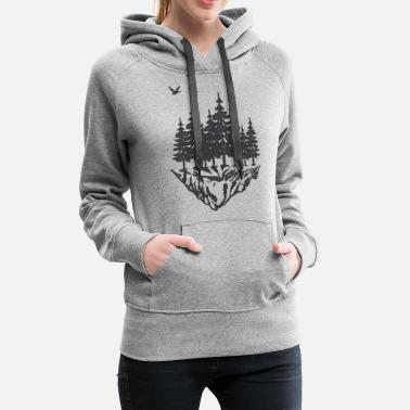 Wood - Hiking - Mountain - Forest - Outdoor - Women's Premium Hoodie