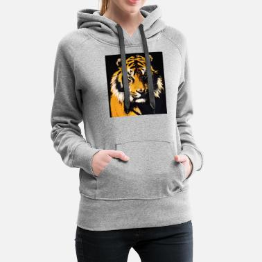 Tiger Tiger - Big Cat Art - Women's Premium Hoodie