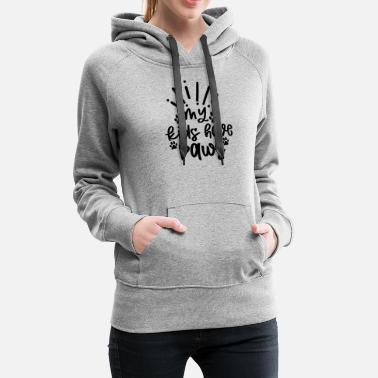 Brain Clever My Kids Have Paws - Women's Premium Hoodie
