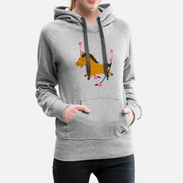 Animals Horses Sweet animated Horse - Women's Premium Hoodie