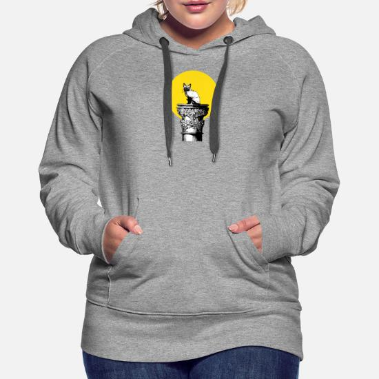 Cat Pussy On A Pedestal Funny Unisex Hooded Sweatshirt