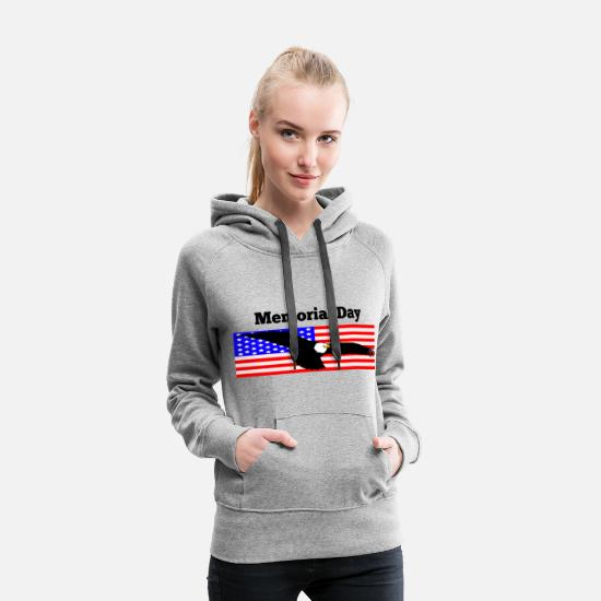Memorial Day Hoodies & Sweatshirts - Memorial Day - Women's Premium Hoodie heather gray