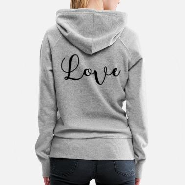 Teens LOVE LOVELY WONDERFUL GIFT IDEA GESCHENKIDEE - Women's Premium Hoodie