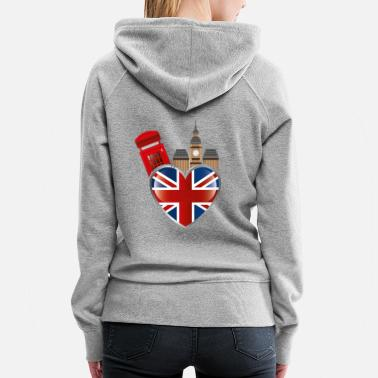 London England and London - Women's Premium Hoodie