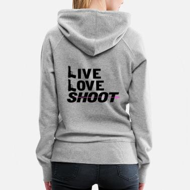 Assault Live Love Shoot Gun Firearms Rifle - Women's Premium Hoodie