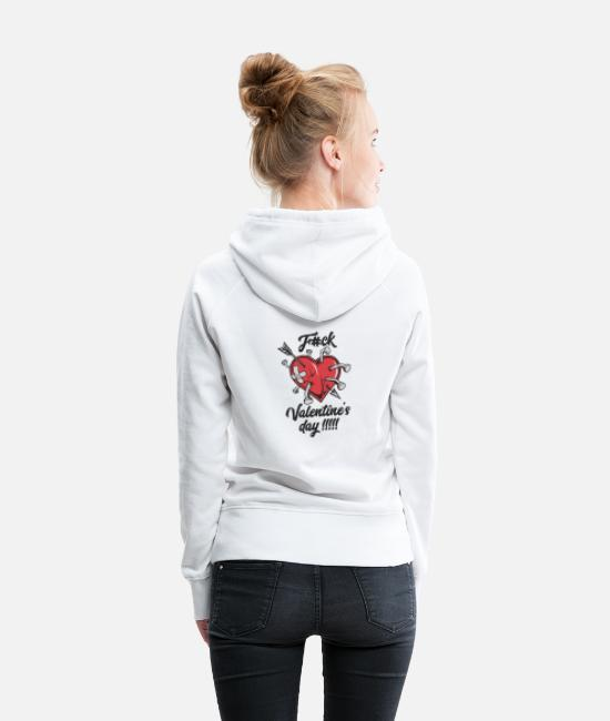 Heart Hoodies & Sweatshirts - Anti-Valentine's Day - Women's Premium Hoodie white