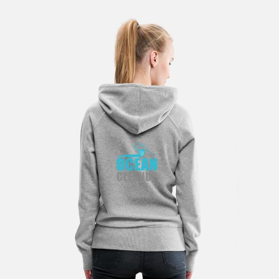 Clean Up Hoodies & Sweatshirts - Ocean CleanUp - Women's Premium Hoodie heather gray