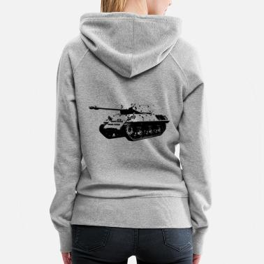 World War 2 main battle tank WW2 - Women's Premium Hoodie