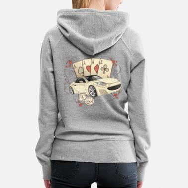 Blackjack Casino Poker Card cube car blackjack - Women's Premium Hoodie