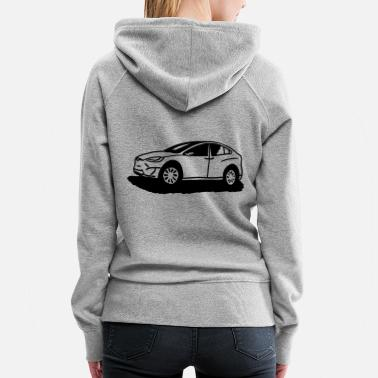 Model Drawn Model X with felt-tip pen - Women's Premium Hoodie