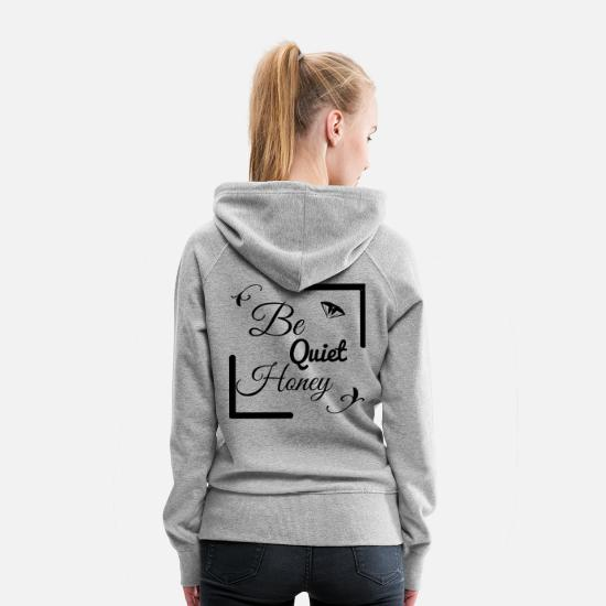 Sub Hoodies & Sweatshirts - be quiet Honey - Women's Premium Hoodie heather gray