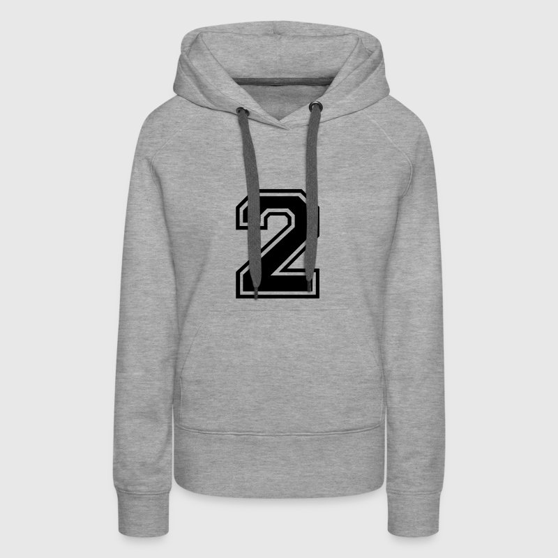 Number 2 Two - Women's Premium Hoodie