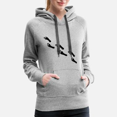 Footprint footprints, footprint - Women's Premium Hoodie