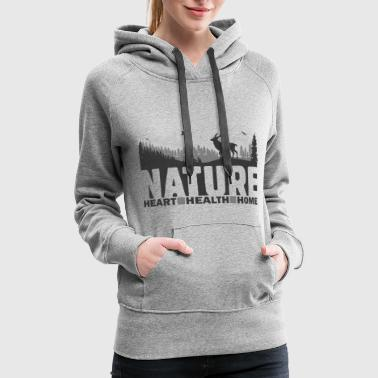 Nature - Heart Health Home - Women's Premium Hoodie