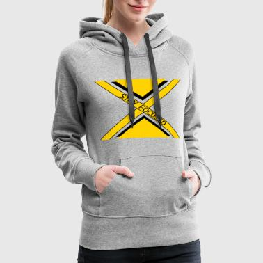 Stay Fresh x dash logo beam focused stay focused king crown p - Women's Premium Hoodie