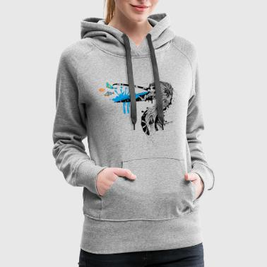 Pelican with fish in its beak - Women's Premium Hoodie