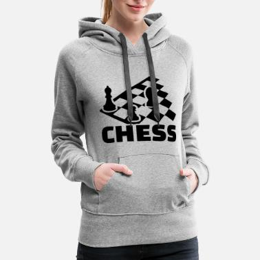 Chess Board chess boards - Women's Premium Hoodie