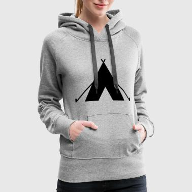 Camp Fire tent - camp - camping fire - Women's Premium Hoodie
