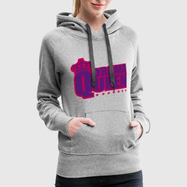 Sexy star woman drama queen princess female crown pink - Women's Premium Hoodie