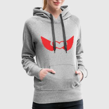 Heart With Wings winged heart - Women's Premium Hoodie
