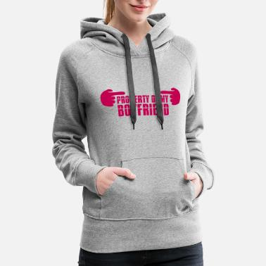 Strip pink cartoon 2 comic hands showing cool Property o - Women's Premium Hoodie