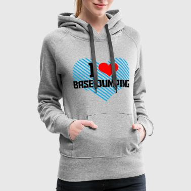Base Jumping Jumping - i heart base jumping - Women's Premium Hoodie