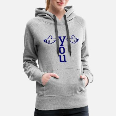 Pointing Left pointing - Women's Premium Hoodie