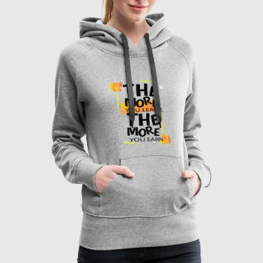Text Message T-SHIRT TEXT WITH MOTIVATIONAL MESSAGE - Women's Premium Hoodie