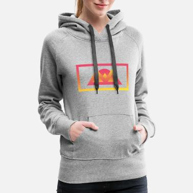Gradient Gradient Valley - Women's Premium Hoodie