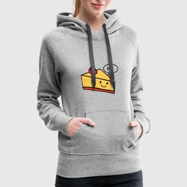 Cheesecake Cheesecake sweet dessert - Women's Premium Hoodie
