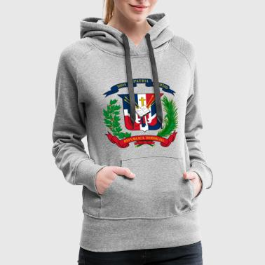Dominican Republic Dominican shield - Women's Premium Hoodie
