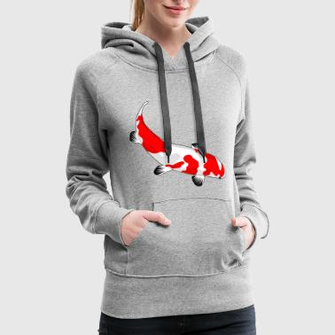 Koi Carp Fish Japan Japanese Lake Pool Poon Gift - Women's Premium Hoodie