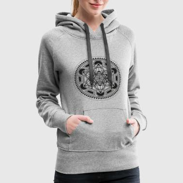 METATRONS CUBE sacred geometry flower of life yoga - Women's Premium Hoodie