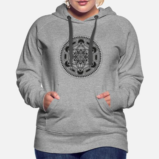 41303659ce7b9 Sacred Geometry Hoodies & Sweatshirts - METATRONS CUBE sacred geometry  flower of life yoga - Women's. Customize