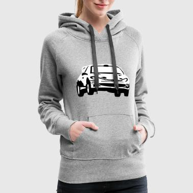 Rally car, racing car - Women's Premium Hoodie