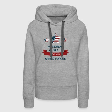 US Memorial Day - Honoring all who served. - Women's Premium Hoodie