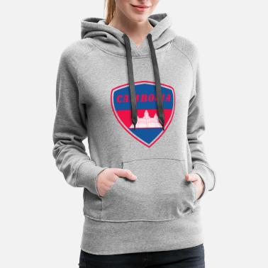 South East Asia Cambodia coat of arms Flag South east Asia Gift - Women's Premium Hoodie