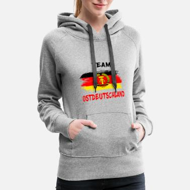 Ostalgie Team Ostdeutschland / East Germany Gift Germany - Women's Premium Hoodie