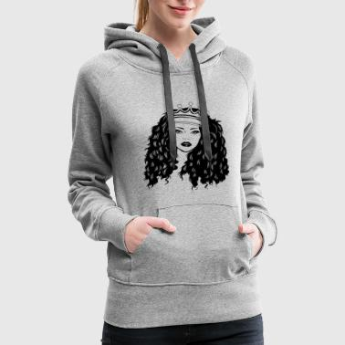 Queen Woman Crown Mix Ethnic Classy Pretty Lady - Women's Premium Hoodie