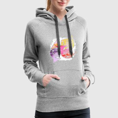 COLORFUL FRENCH HORNS SHIRT - Women's Premium Hoodie